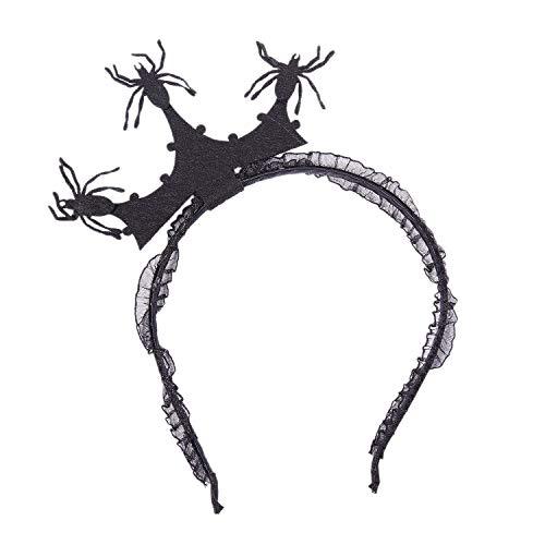 Krone Spinne Fascinator Haarband Stirnband Kopfbedeckung Fuer Halloween Masquerade Ball Partei Faschingskostuem Partei Spinne ()