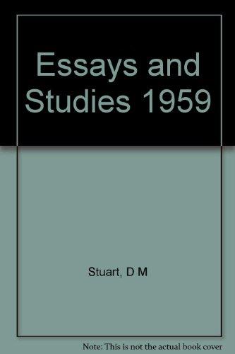 Essays and Studies 1959