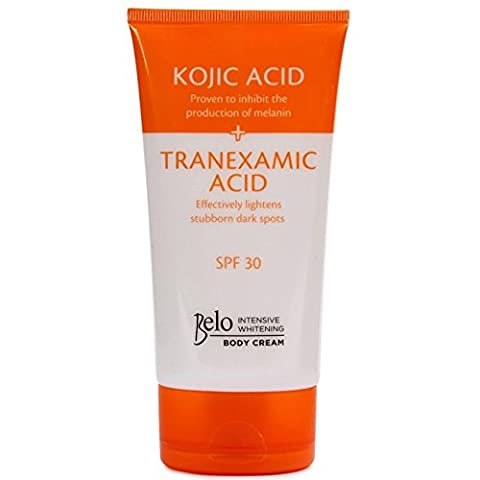 Kojic Belo intensifs & acide tranexamique blanchissant le corps crème w / SPF 30-150mL
