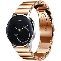 Per Withings Activite Pop, Bescita moda in acciaio INOX bracciale Smart Watch Band strap, Rose Gold