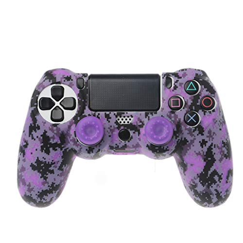 Lamdoo Schutzhülle Gamepad Hülle Hülle aus weichem Silikon Analoger Daumengriff Joystick Rocker Cap Anti-Rutsch für Sony Playstation 4 PS4 Wireless Controller - Lila -