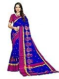 Art Decor Sarees Silk Saree with Blouse Piece (Kumhaar Matka_Blue_Free Size)