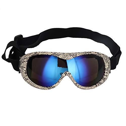 Bicaquu Mittelgroße UV-Hundebrille Sonnenbrille Haustier Skifahren Schutzbrille Brille(02)