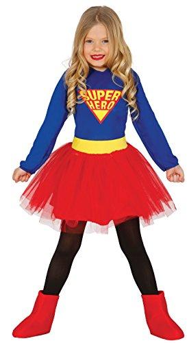 Helden Mädchen Super Kostüm - Super Hero Kostüm Kinder 7-9 Jahre