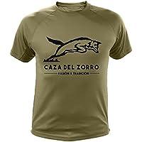 Camiseta de Caza, Pasión y Tradición, Caza del Zorro (30134, Verde, XL)