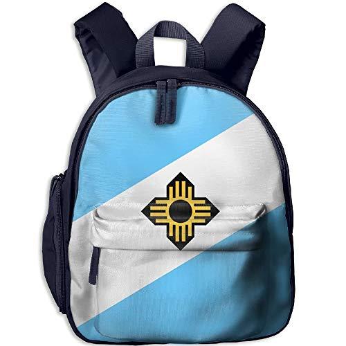 Flag of Madison Kid and Toddler Student Backpack School Bag Super Bookbag -