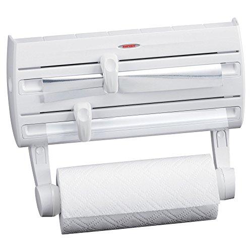 Spice Papier (Leifheit Wandhalterung Papier Handtuchhalter mit Kunststoff-Geschenkpapier, Folie und Spender Spice Rack, weiß)