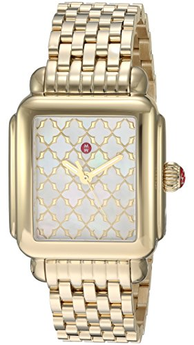 Michele Women's Swiss Quartz Stainless Steel Casual Watch, Color:Gold-Toned (Model: MWW06T000177)