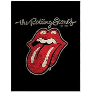 The Rolling Stones - Große Retro Logo Fleecedecke mit Zungenprint (Tongue) 100 % Polyester, 150 x 200 cm