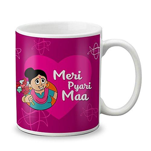 LOF Meri Pyari Maa Gifts For Mother's Day 325ml Printed Mug  available at amazon for Rs.299