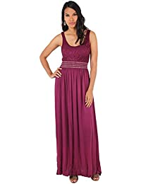 KRISP® Femme Robe Longue Unie Motif Buste