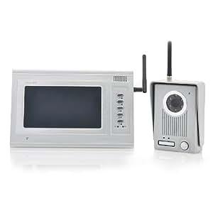 2.4GHz Wireless Video Door Camera Set - 7 Inch Monitor, 300 Meter Range