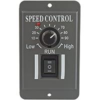 uniquegoods Controlador de velocidad del motor DC 12V 24V 36V 48V Regulador de velocidad del motor reversible 6A