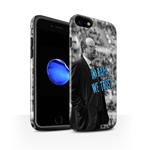Offiziell Newcastle United FC Hülle / Glanz Harten Stoßfest Case für Apple iPhone 7 / Skizze Muster / NUFC Rafa Benítez Kollektion Wir Vertrauen