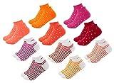 FOOTNOTE 10 Paar Sneaker Socken Damen und Herren Orange-Rot in 39 40 41 42