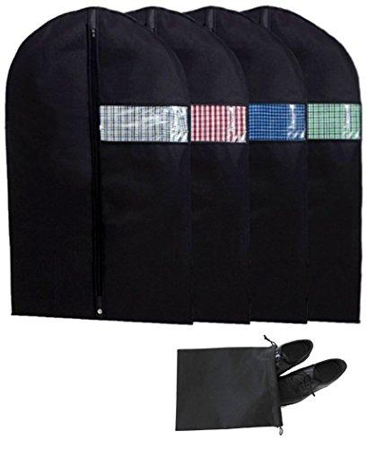 ium Kleidersack Kleiderschutz Anzughülle von 100 x 60cm hochwertiger Anzugsack Kleiderhülle mit dem großen Schaufenster Aufbewahrung Kleiderschutz Schuhtasche aus atmungsaktivem Material Schutz für Ihre Anzüge und Kleider (Tanz Kostüme Schrank)