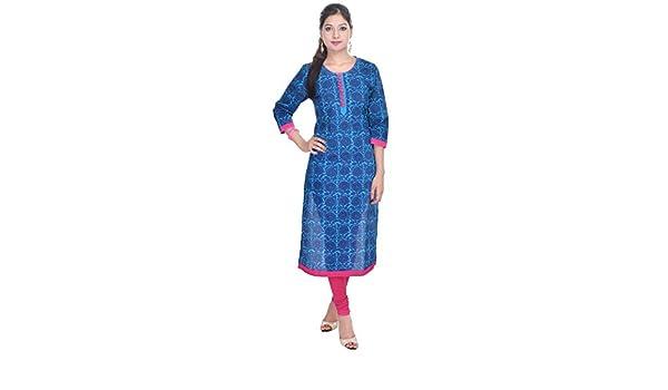 Vetements T Shirts A Manches Longues Vihaan Impex Robe Indienne Tunique Femme Kurti Viku8035