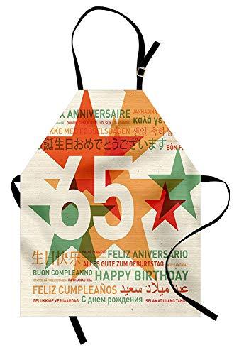 65.o Delantal de cumpleaños