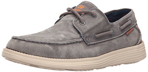 Skechers Status- Melec, Men Boat Shoes, Grey (char), 9 UK (43 EU)