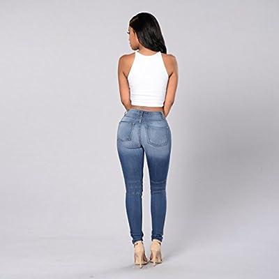 ZKOO Jeans Denim Trousers Womens Stretch Butt Lift Skinny Jeans Cotton Pleated Denim Pencil Pants Ladies