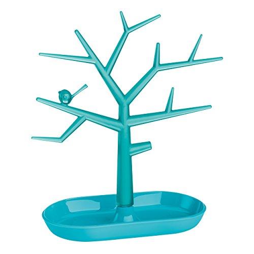 KOZIOL PI:P M - Portagioielli a forma di albero, turchese