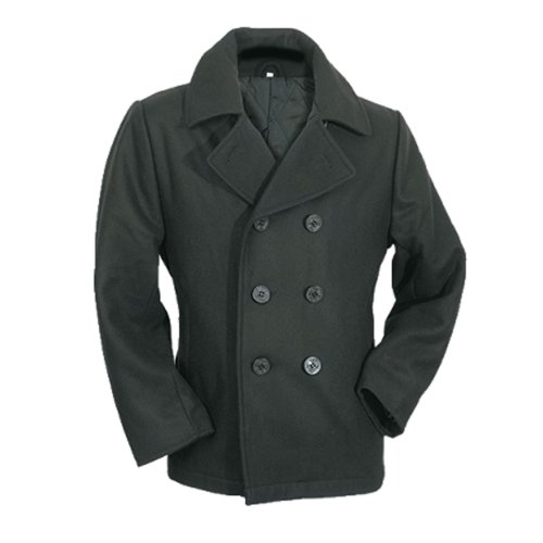 by MMB - Mens Peacoat Schwarz, US-Style Marinejacke Pea Coat Größe M (Pea-jacke)