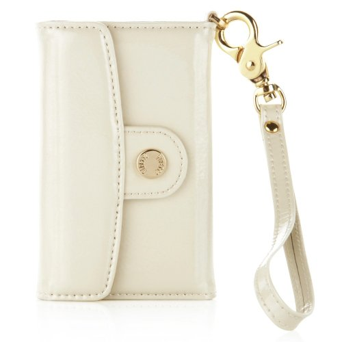 Pipetto P015-10 Luxury Patent Leder Wallet für Apple iPhone 4/4S pearl 4s Pearl Case Iphone