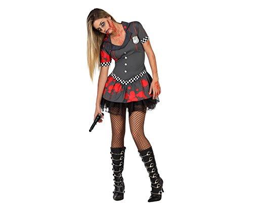Atosa 22680 - Zombie Polizistin Kostüm, Größe XL, (Polizei Kostüm Zombie)