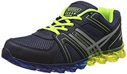 Steemo Men's Blue and Parrot Green Running Shoes - 10 UK/India (44 EU)(STM1023)