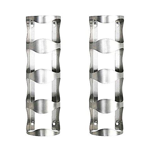 Ikea Weinregal für 4 Flaschen aus Edelstahl Silber