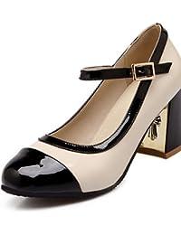 0f84c2c44 ggx charol zapatos de mujer otoño invierno talones bomba básica punta  redonda talones oficina y carrera vestido…