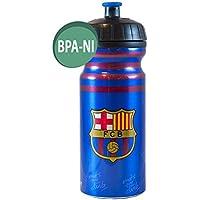 Alusport Bottles FCB Club Cliclista Botella Deportiva de Aluminio, Hombre, Azul, 0.7 l