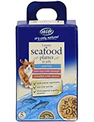 HILIFE it's Only Natural Seafood Platter in Jelly Cat Food, 5 x 50 g