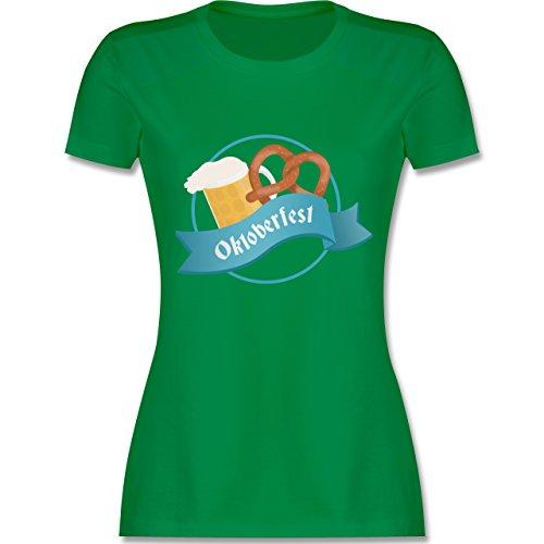 Shirtracer Oktoberfest Damen - Oktoberfest - Damen T-Shirt Rundhals Grün