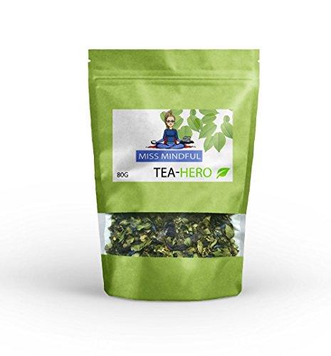 Brain Booster, loser Tee mit natürlichem Koffein, hilft Dir dich zu fokussieren, Konzentration Fokus Arbeit, enthält Ginseng, Gingko, Gunpowder, Kurkuma Tee, Mate Tee, China Oolong, zuckerfrei & vegan