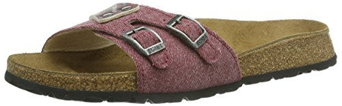 Birki's Caja, Chaussures de Claquettes femme Rouge - Rot (Jeans Shadow Red)