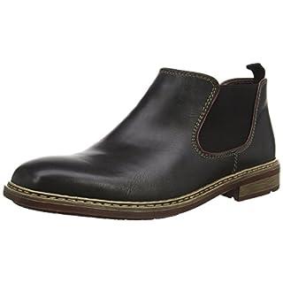 Rieker B1282, Herren Chelsea Boots, Schwarz (nero/bordeaux/00), 44 EU (9.5 Herren UK)