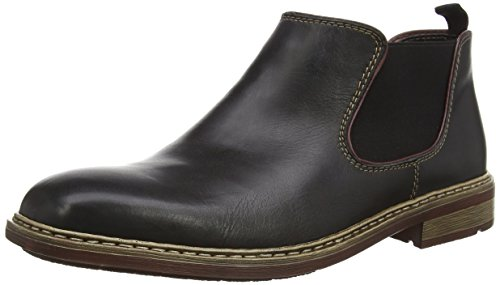 Rieker B1282, Herren Chelsea Boots, Schwarz (nero/bordeaux/00), 43 EU (9 Herren UK)