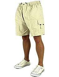 Herren Shorts Bermuda Kurze Hose Cargo Dehnbund Verschiedene Farben ID231