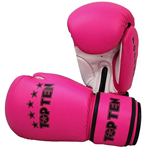 TOP Ten Boxhandschuhe, R2M, pink-weiß, 10 Oz