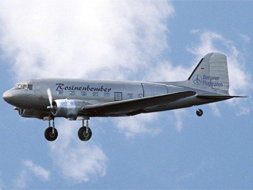 elektrisches einziehfahrwerk RC Flugzeug Douglas DC-3 Silber Spannweite 1800mm Oldtimer Rosinenbomber