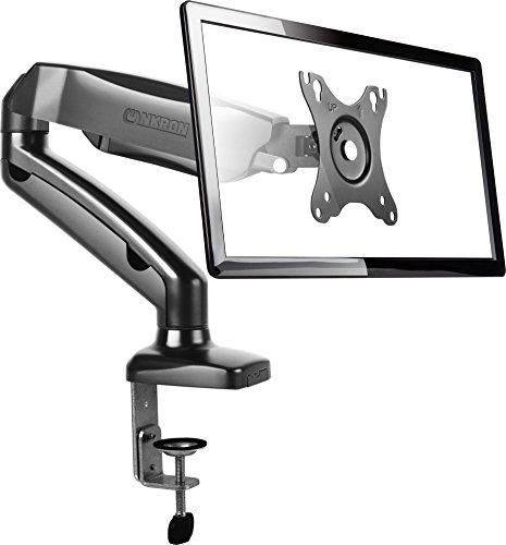 Soporte Soporte para monitor giratorio para LCD LED de escritorio con muelle a gas para oficina casa