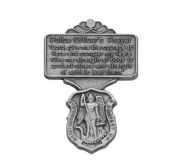 St. Michael Police Officer Prayer Visor Clip by McVan, Inc.