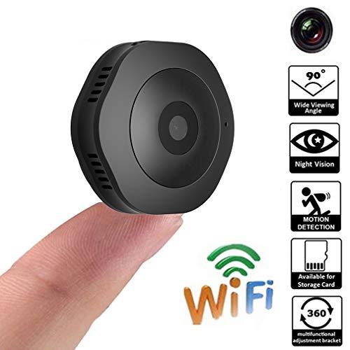HWUKONG Versteckte Kamera Mini Spy Camera, Mini Kamera 1080P HD DV Micro Mini Action Camcorder Weitere runde Sprachassistenten Home Security Monitoring Spy Wlan-camcorder