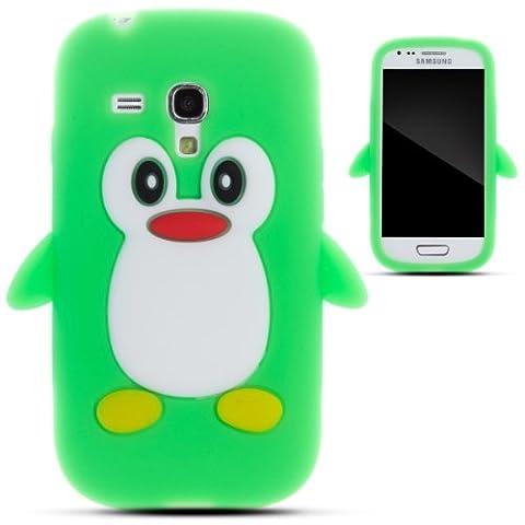 Zooky® grün Pinguin Silikon Schutzhülle / Hülle / Cover für