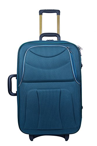 "New Jersey Travellers {POLYESTER SOFTSIDED SUITCASE} Bottle Green (24""Size)"