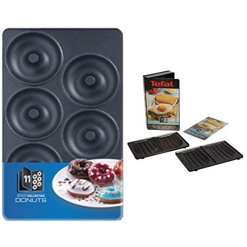 Tefal XA8011 Snack Collection Platte Donuts, Nummer 11 & XA8001 Snack Collection Platte Sandwich, Nummer 1