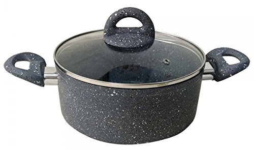 Wonderchef Granite Casserole with Lid Set, 20cm, 2-Pieces