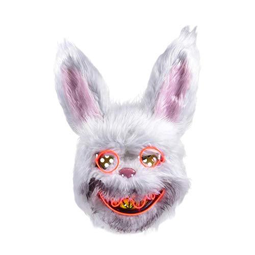 Glühende blutige Kaninchen Horror Maske Halloween Kostüm Party gruselig gruselig dekorative Requisiten - Gruselige Kaninchen Kostüm