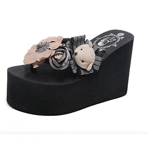 �r Frauenhand gefertigte Rutschfeste High Heel Strandsandalen (Dressy Flip-flops)